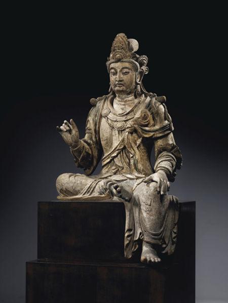 13世纪 木雕观音菩萨坐像 902.5万欧元 巴黎约佳士得