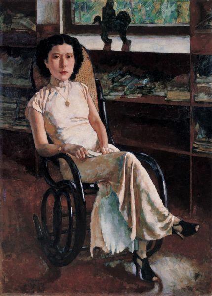 徐悲鸿《珍妮小姐画像》2011年在中国嘉德拍出5750万元