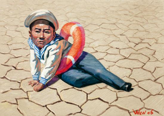 """王兴伟的《小海军》以276万顺利成交,而以其为代表的""""观念绘画""""也成为市场关注的热点"""
