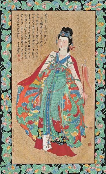 张大千《红拂女》镜心107×59cm嘉德供图
