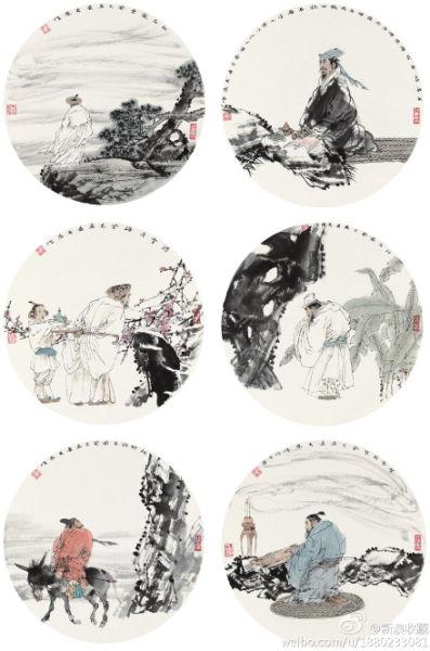 劉大為《古代人物六幀》210萬落槌