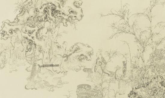 竹林简笔画绘画