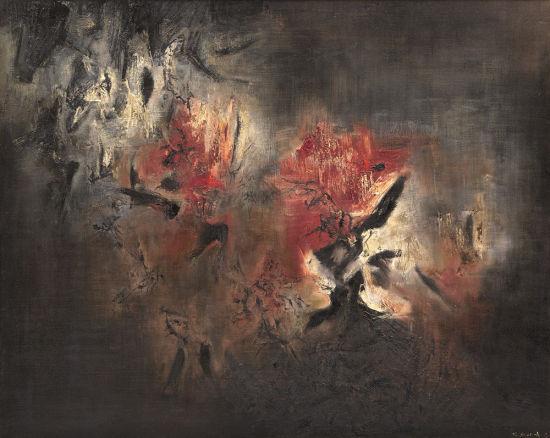 「现当代中国艺术」拍卖──赵无极《抽象》,1958年作,估价:3,500万至4,500万人民币