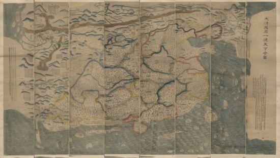 資料圖:1811年(清嘉慶16年)繪製的《大清萬年一統天下全圖》。