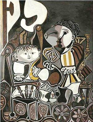 2013年万达集团以2816万美元购买了毕加索的 两个小孩 高清图片