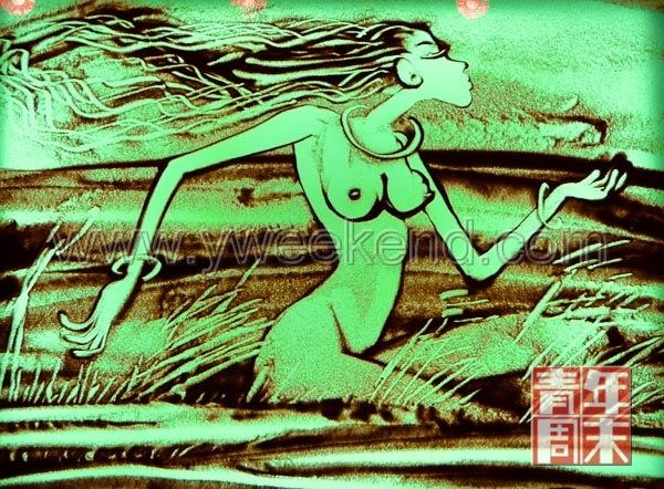高赞民让沙子变魔术   文/《青年周末》记者 王晓晶 供图/高赞民   他是中国乃至亚洲最具影响力的沙画艺术家,他是中国沙画的发起者和引领者,他的奥运沙画《奥运圣火让全世界团结起来》在2008年一经上传点击率便迅速蹿升百万,成为沙画引进国内里程碑式的作品。普通人眼里最平凡不过的沙子在他手中却幻化出不同的画面故事,他就是沙子魔术师高赞民。   11月7日,《青年周末》记者来到高赞民的工作室,也走进了这位艺术家的沙世界。   第一次看沙画哭了   最近好几个外地来的小姑娘来到北京赞民沙画吧找