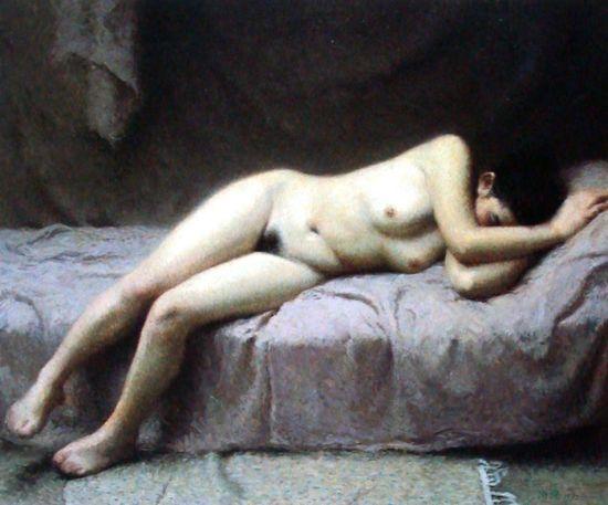 靳尚谊油画作品《人体》