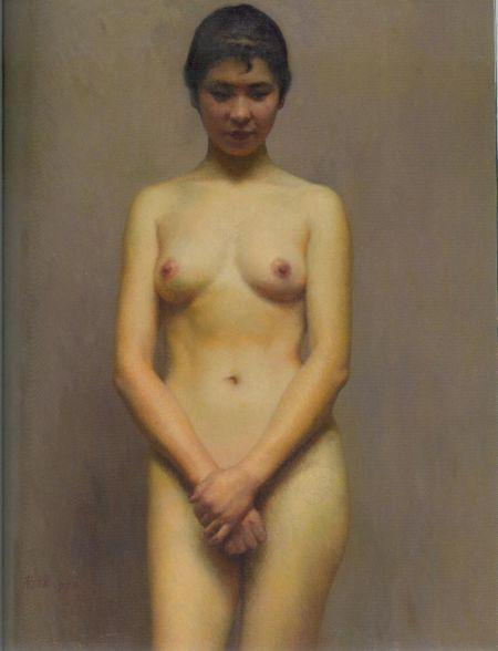 靳尚谊油画作品《宁静》