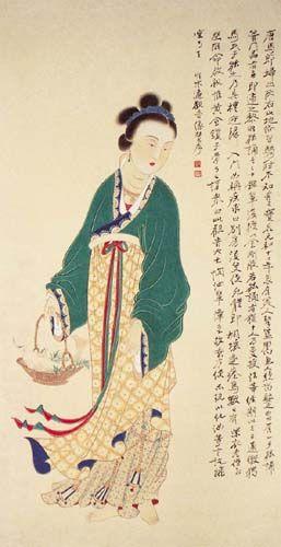 张大千的仕女画(资料图片)
