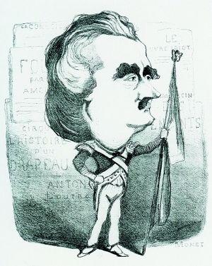 莫奈所绘的人物漫画肖像