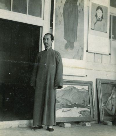 约1936年王悦之在北京新街口新居客厅