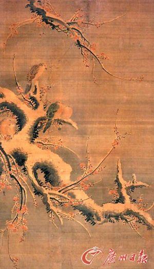 吕纪 《红梅斑鸠图》
