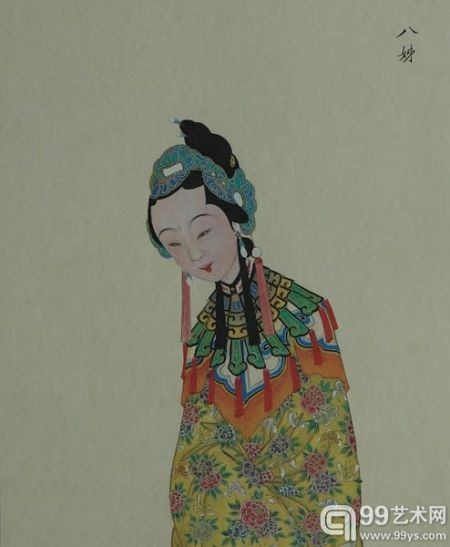 梅兰芳藏清宫戏曲人物画