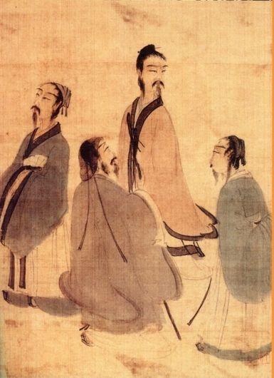 傅抱石人物画《山阴道上》
