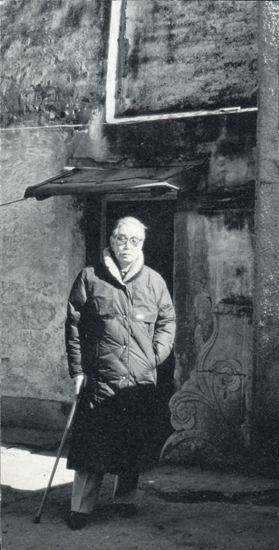 1986年11月,青山杉雨访上海松江董其昌家族祠堂
