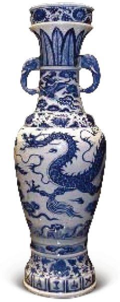 大英博物馆藏的元青花龙纹象耳瓶