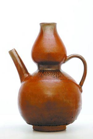 宋代紫定葫芦瓶