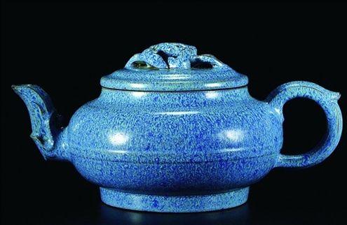 磅礴大氣的爐鈞釉圓壺