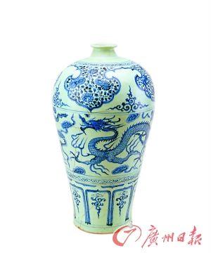 元青花龍紋梅瓶