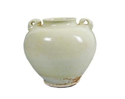 唐代兔系罐白瓷