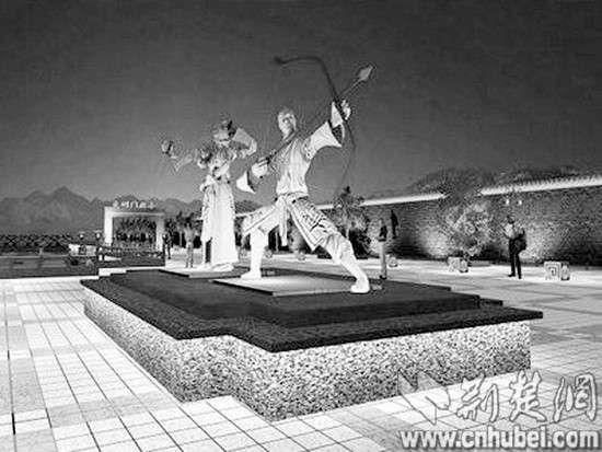 郭靖黄蓉雕像规划图