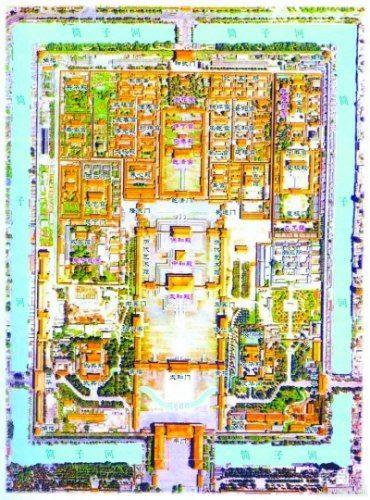故宫平面图手绘简图