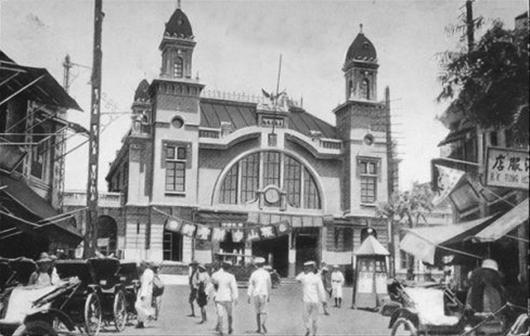圖為:解放前的老漢口火車站