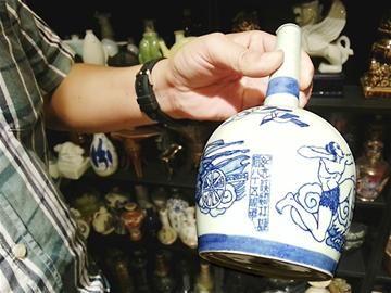 成都收藏家藏的酒瓶酒罐
