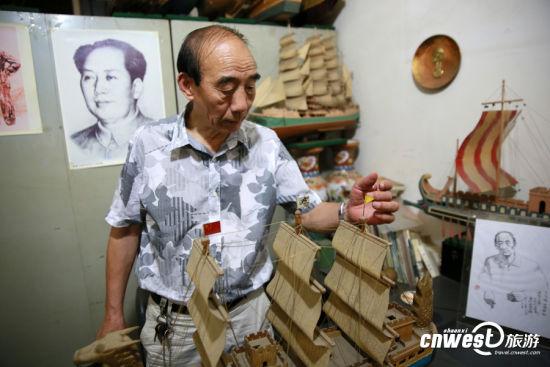 李寶順講述中國奧運龍船的製作過程和理念。