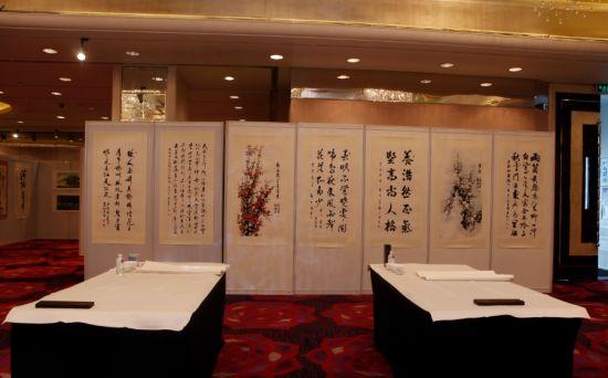 """上海情""""将军书画展览图片"""