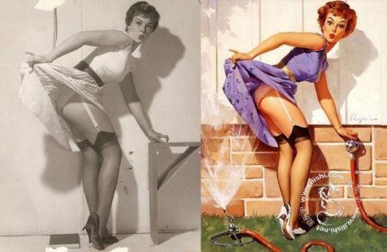美国手绘20世纪20年代性感美女原型照曝光(图)