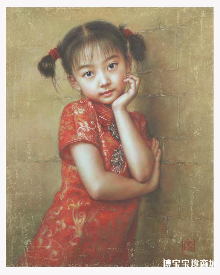 幼儿欧式古典人物油画