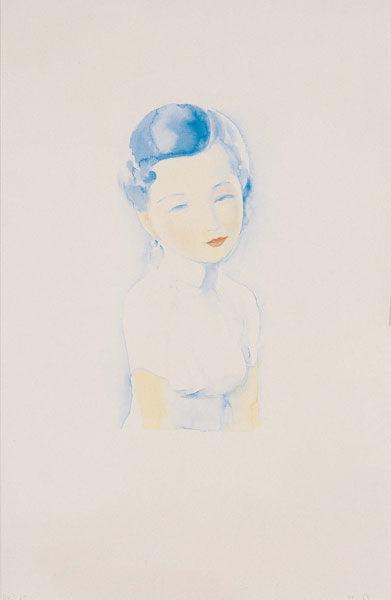 刘野《阮玲玉》水彩纸本 100×65厘米 2004年