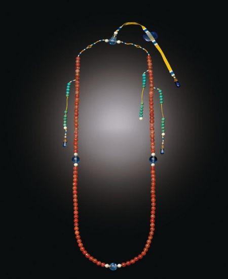 18世纪 御制红玛瑙朝珠 成交价64.96万