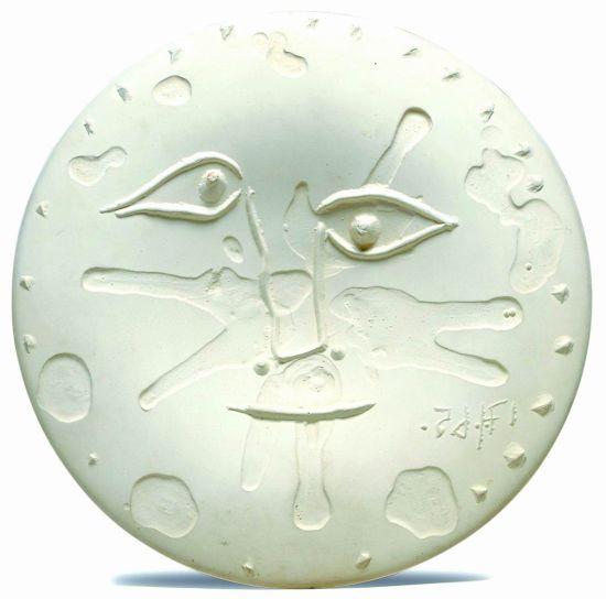 《脸》,直径273mm,创作于1965 年,成交价2125美元