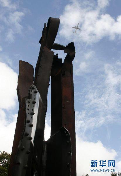 """雕塑作品""""9・11之后""""。"""