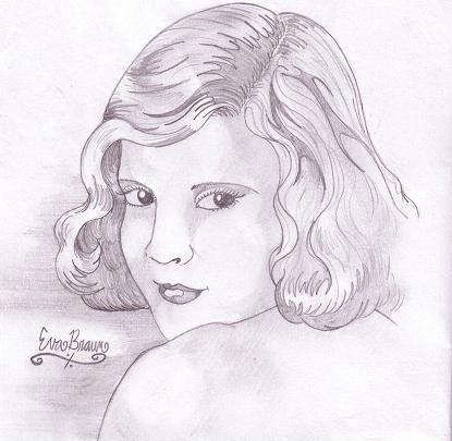 希特勒画的温情美女画