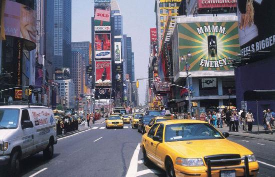 纽约时代广场-世界末日景象的照片