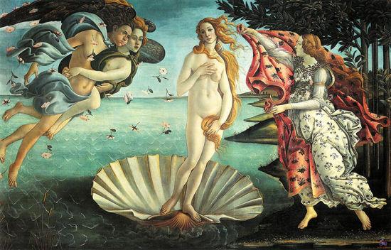 波提切利的《维纳斯的诞生》