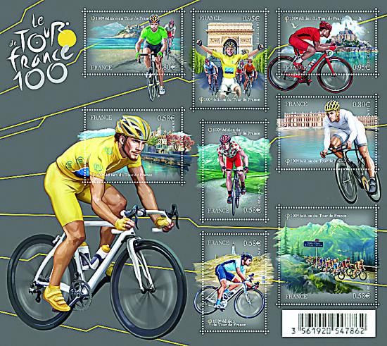 环法自行车赛邮票