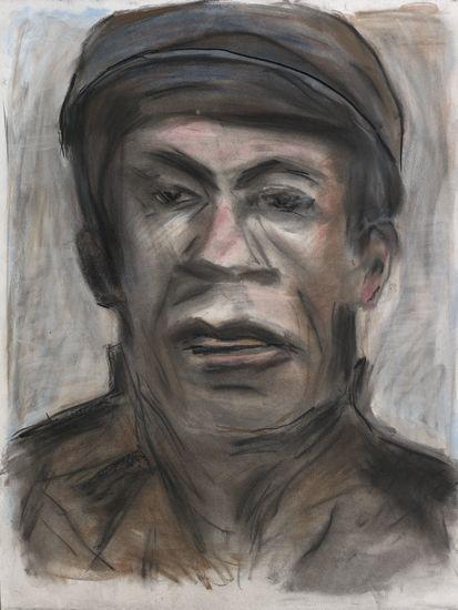 鲍勃·迪伦为Skip Sharpe画的肖像画。