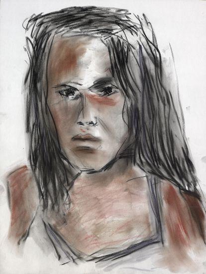 鲍勃·迪伦为Nina Felix画的肖像画。