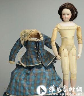 法國時尚女郎娃娃 估價$4,000-$5,000