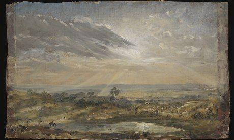 约翰·康斯特布尔《Branch Hill Pond: Hampstead》 维多利亚和阿尔伯特博物馆 供图