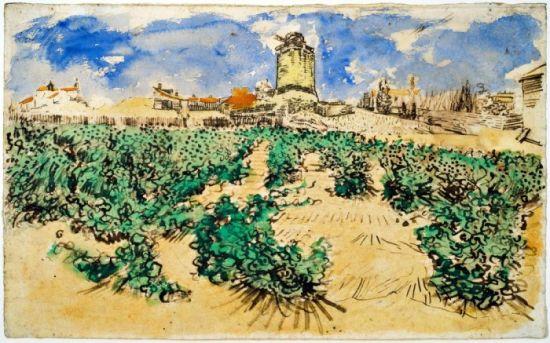 《Le Moulin dAlphonse Daudet  Fontvieille》   新浪收藏讯 据悉,一幅出自梵高的风景画《Le Moulin dAlphonse Daudet  Fontvieille》百年来将首次展出。之所以认为这幅画是出自梵高之手,证据来自于画作背面的两个潦草的手写数字。   1891年,提奥去世,为了排遣对丈夫的思念,提奥的妻子约翰娜开始整理丈夫生前留下的梵高大批作品。在她草拟的两份梵高作品清单中,有与这幅风景画背后数字一致的记录。   尽管约翰娜可能没有意识到梵高的作