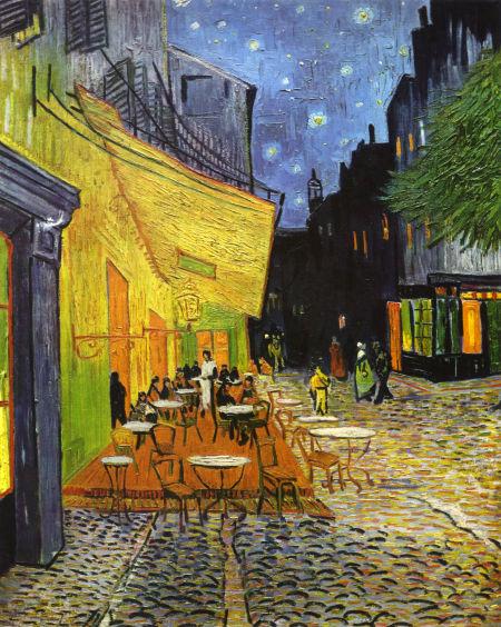 梵高名画《夜间咖啡馆》暗藏玄机?