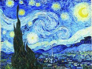 卫星图片酷似梵高名画《星夜》图片