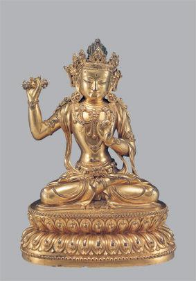 明永樂銅鍍金金剛手菩薩像高20厘米國內收藏家藏
