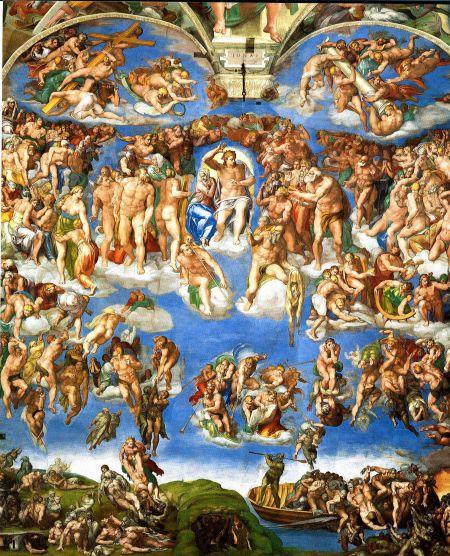米开朗基罗:《最后的审判》壁画欣赏局部   米开朗基罗 ...