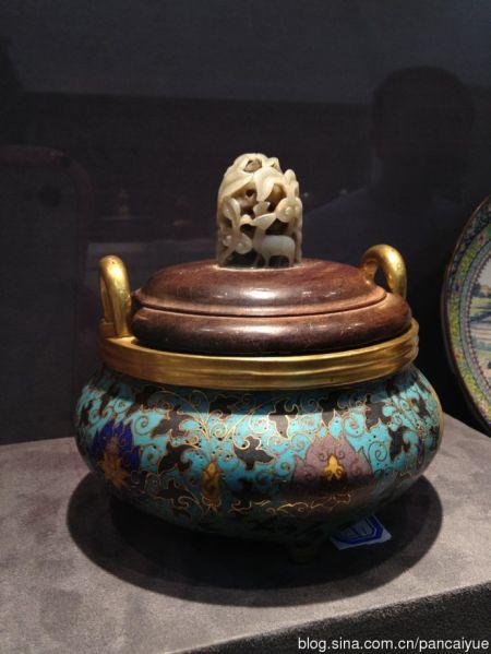 海外回流·清代景泰藍熏香爐
